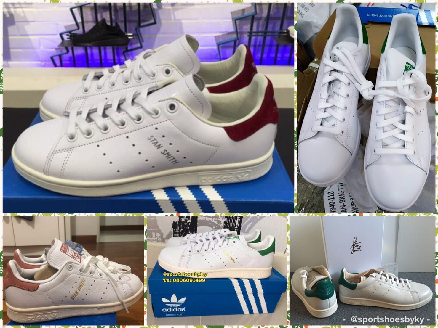 รองเท้า Adidas Stan Smith ของแท้ เช็คอย่างไร มีกี่สี กี่แบบ