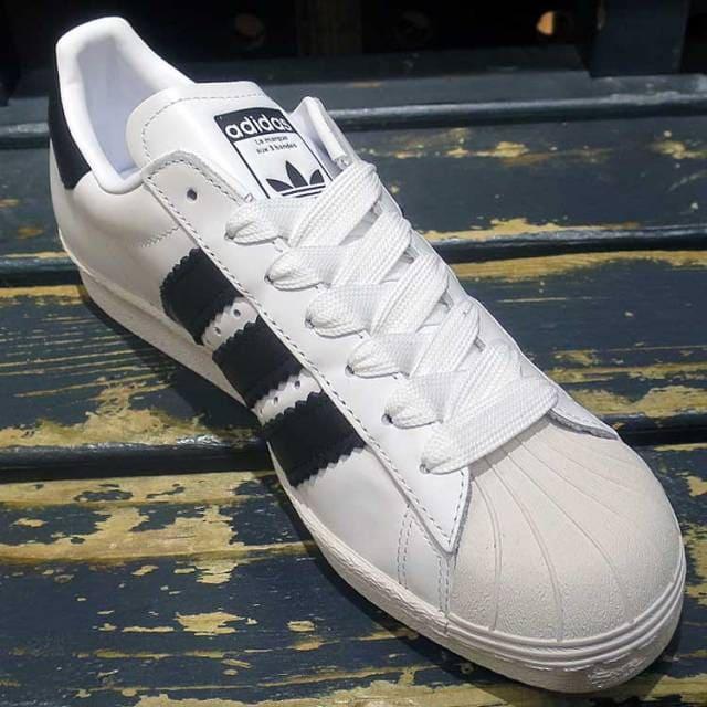 เช็ค ราคา ! อาดิดาส ซุปเปอร์สตาร์ 80s Enlarged Stripes สีขาว