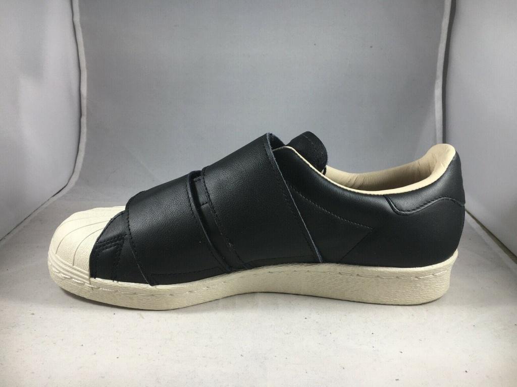 อดิดาส รองเท้าผ้าใบ Superstar Cf 80s ตีนตุ๊กแกะแบบแปะ สีดำ