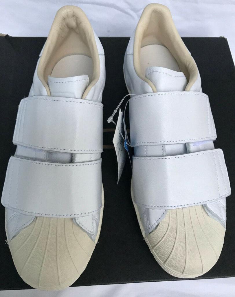 รองเท้า Adidas ใหม่ Superstar 80s Cf ตีนตุ๊กแกะแบบแปะ สีขาว
