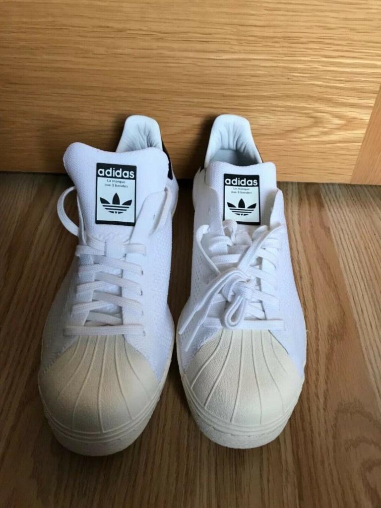 เช็ค ราคา ! อาดิดาส ซุปเปอร์สตาร์ 80s สีขาว Primeknit