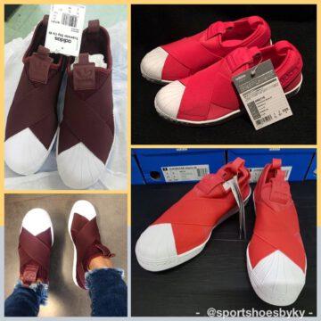 Adidas Superstar Slip on Red สีแดง มีแบบไหนบ้าง