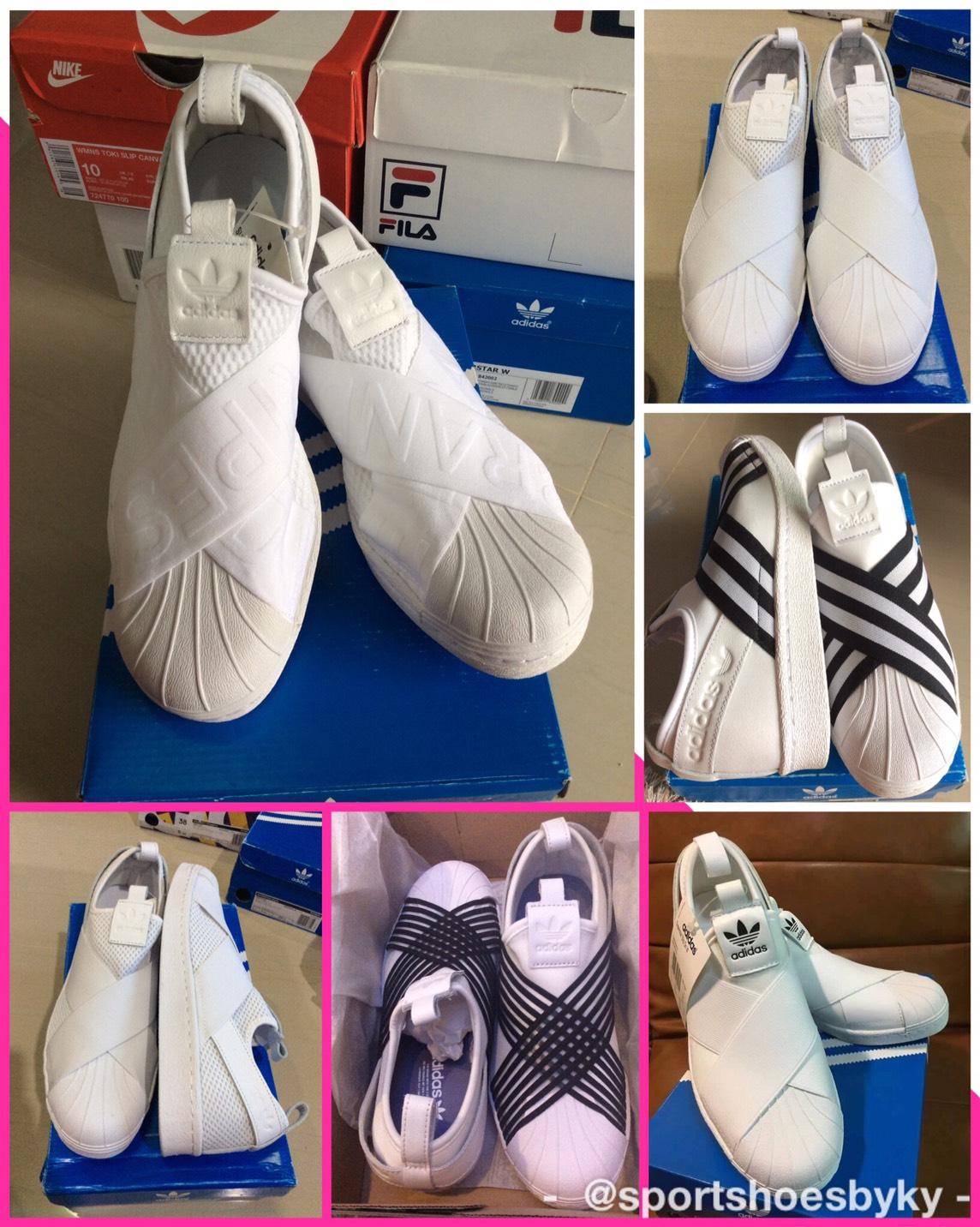 ราคา รีวิว ! Adidas Superstar Slip on White สีขาวสุดฮอต