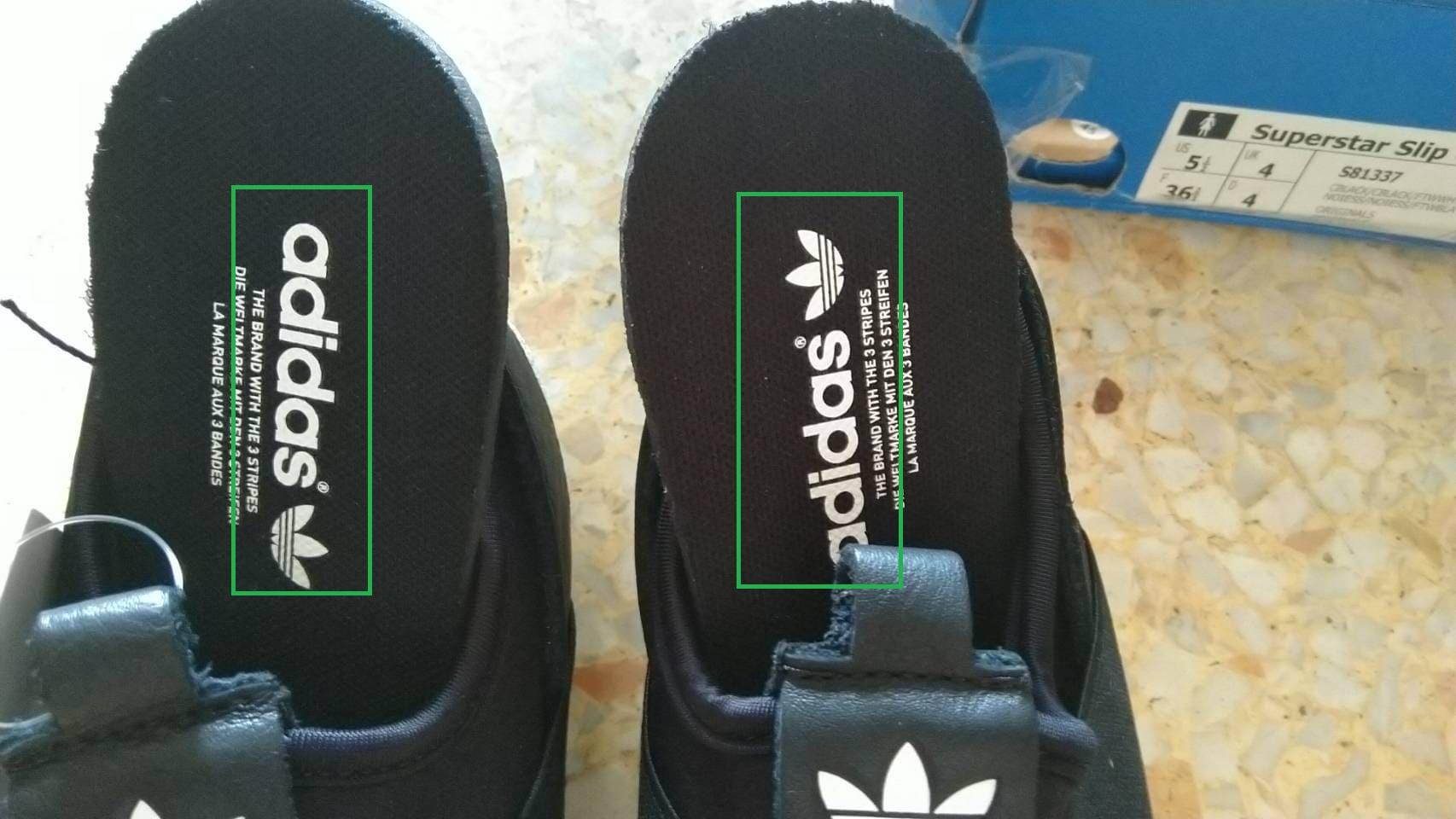วิธีง่ายๆ เช็ค Adidas Superstar Slip-On ของแท้จาก แผ่นรองเท้า ทั้งสองข้าง